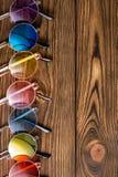 Rząd kolorowi Rodzajowi mody lata okulary przeciwsłoneczni Obraz Royalty Free
