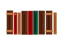 Rząd książki z brown, czerwieni i zieleni pokrywami, Fotografia Stock