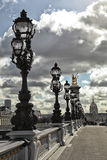 Rząd latarnia w Paryż zdjęcia stock