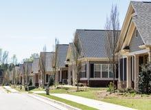 Rząd Nowi mieszkanie własnościowe domy miejscy Obrazy Royalty Free