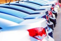 Rząd Nowi samochody w zapasie zdjęcie royalty free