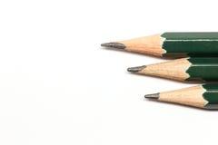 Rząd ołówki Zdjęcia Royalty Free