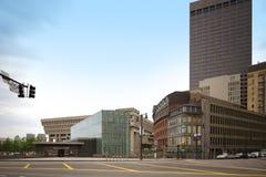 Rząd przelotowej staci Centrum śródmieście Boston Zdjęcie Royalty Free