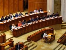 Rząd PSD Viorica Dancila przy salą delegaci zdjęcie royalty free