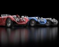 Rząd roczników samochody obrazy royalty free