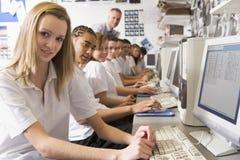 rząd się uczyć uczniów komputera obraz royalty free