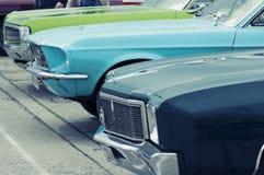 Rząd starzy samochody obrazy royalty free