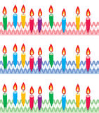 rząd urodzinowe świeczki Obraz Royalty Free