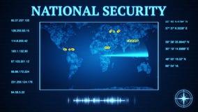 Rządowa bezpieczeństwo narodowe. agencja pęka puszek na bitcoin wirtualnej walucie ilustracja wektor