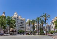 Rządowi budynki przy placem Ayuntamiento w Walencja obrazy royalty free