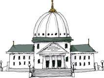 Rządowy budynek royalty ilustracja