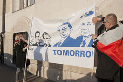 rządowy hungarian połysku strajka współczucie Obraz Royalty Free