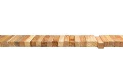 Rzędów bloków drewniany kłamać zdjęcia stock