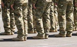 rzędów polerujący żołnierze Fotografia Royalty Free