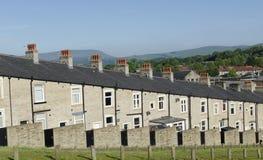 Rzędu kamień Lancashire i łupki Tarasujący domy Obrazy Stock