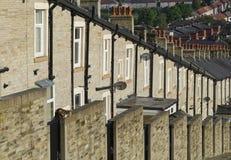 Rzędu kamień Lancashire i łupki Tarasujący domy Obraz Royalty Free