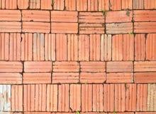 Rzędy ściana z cegieł tło Obraz Stock