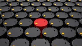 Rzędy baryły ropy naftowej Fotografia Royalty Free