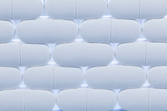 Rzędy białe pigułki zdjęcia royalty free