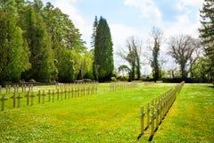 Rzędy cmentarzy krzyże w Dinant Fotografia Royalty Free