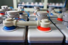 Rzędy elektryczna DC staci bateryjna przemysłowa potężna dostawa dla wyposażenia Fotografia Royalty Free
