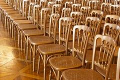 Rzędy krzesła Zdjęcie Stock