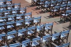 Rzędy krzesła dla Plenerowego koncerta. Zdjęcia Stock