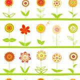 Rzędy kwiatu bezszwowy wzór royalty ilustracja