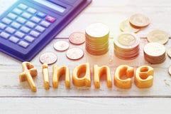 rzędy monety, stos pieniądze przyrost Obrazy Stock