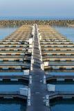 Rzędy puści łódkowaci doki obraz royalty free