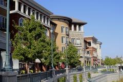 Rzędów domy Napa Kalifornia Fotografia Royalty Free
