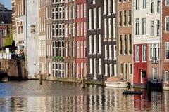 Rzędów domy w Amsterdam Fotografia Stock