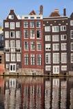 Rzędów domy w Amsterdam Obrazy Stock
