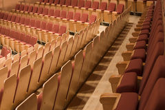 rzędów filharmoniczni siedzenia Zdjęcia Stock