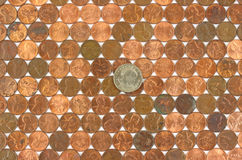 rzędów menniczy dolarowi starzy centy Zdjęcie Stock