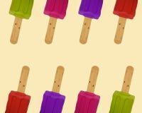 Rzędów popsicles kolorowy wzór Obrazy Royalty Free