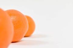 Rząd Clementines Obraz Stock