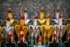 Rząd kurczak lala Zdjęcia Stock