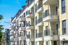 Rząd nowi mieszkanie domy w Berlin Zdjęcie Stock