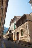 Rząd starzy kamienni budynki w Soller, Mallorca, Hiszpania Obraz Stock