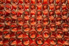 Rząd szampan butelki - wino loch Zdjęcie Royalty Free