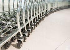 Rząd wózek na zakupy Zdjęcie Stock
