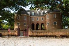 Rządowy budynek w historycznym Williamsburg Obraz Stock