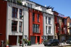 - rzędowy scandinavian domy. Fotografia Stock