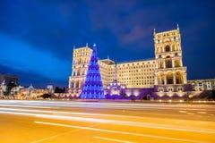 Rzędu dom na Styczniu 3 w Azerbai Zdjęcia Royalty Free