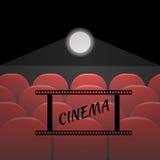Rzędy czerwoni kina lub teatru siedzenia eps 10 Fotografia Stock