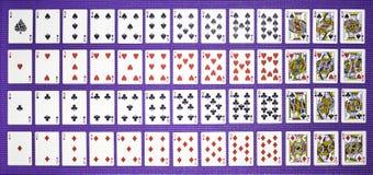 Rzędy karta do gry Obraz Stock