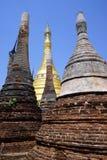 Rzędy stupas Zdjęcia Royalty Free
