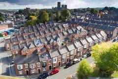 Rzędy Tarasowaci domy W Durham Fotografia Royalty Free