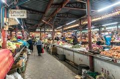 Rzędy wyprodukowany lokalnie warzywa w Kutaisi Obrazy Stock